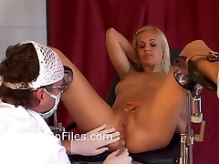Young blonde slaves medical humiliation and doctors bdsm