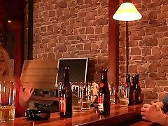 English grandpa fucks american teen girl in a bar