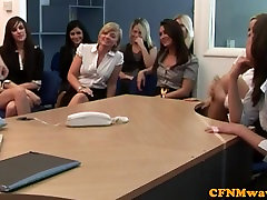 CFNM daughter rough mom office babes demand to see cock