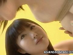 Asian cutie in a kinky BDSM flick