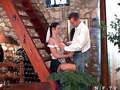 Sexy maid anal plugged