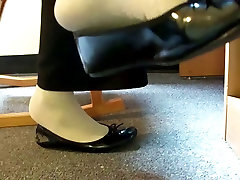 Black flats dangling and noise fetish preview