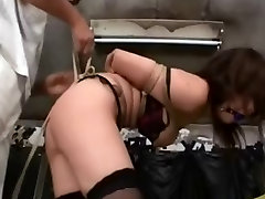 Asian Teen Tied And Toyed In Stockings