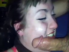 Face fucked by black cock