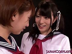 Cosplay Saki Miyanaga goes lesbian with Hisa Takei at Kiyosu