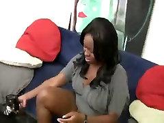 Big tits ebony gets a cunt full of cum