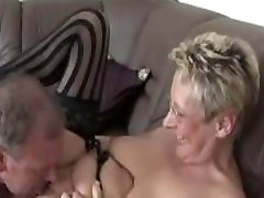 German mature fucked on her couch