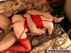 Busty Asian Babe Jade Feng Riding Cock