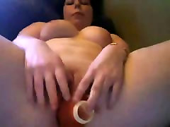 Young Chubby Teen with nice Boobs playing with pink Pussy