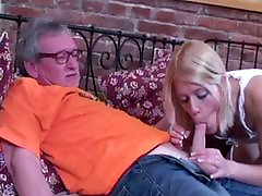 Old man fucks with blonde girl