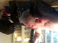 Daddy&039;s big black dildo deepthroat
