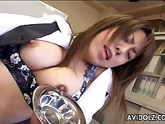 Brunette Asian is toy fucking her wet cunt till she cums